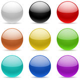 Color glossy spheres Stock Photos