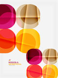 Color glossy squares with round angles, composition with sample text Royalty Free Stock Photography