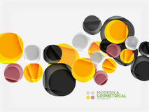 Color glossy squares with round angles, composition with sample text. Vector abstract background design template for your slogan, message or presentation Stock Image