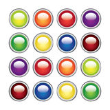 Color glossy web buttons Royalty Free Stock Photos