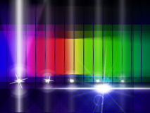 Color Glow Indicates Colorful Background And Chromatic Royalty Free Stock Photos