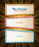 Color gold frame retro comic design banner Royalty Free Stock Photos