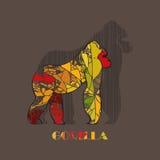 Color Gorilla. Animals set. Stock Photography