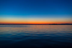 Color gradation of sunset on the lake Kasumigaura Stock Photography
