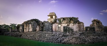Ruins at the Palenque archeological site, Chiapas, Mexico. royalty free stock photos