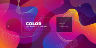 Color gradient background design. Abstract geometric background with liquid shapes. Cool background design for posters royalty free illustration
