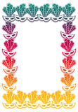 Color gradient frame with carnival masks. Stock Image