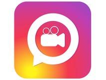 Color gradient icon template video camera. Vector Illustration vector illustration