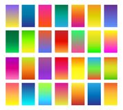 Color gradients set. Color gradients. Gradient colors or softly colored backgrounds vector illustration Stock Illustration