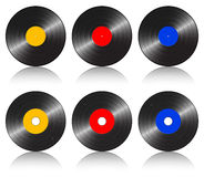 Color gramophone record Royalty Free Stock Photography