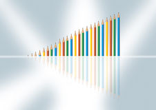 Color graph Stock Images