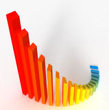 Color Graph Stock Image