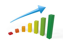 Color Graph Royalty Free Stock Photo