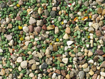Color gravel background texture Stock Image
