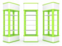Color green shelves Stock Photo