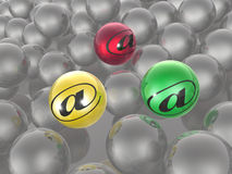 Color and grey spheres Stock Photography
