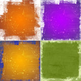 Color grunge backgrounds Stock Image