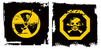 Color grunge danger banner Stock Photo