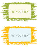 Color grunge frames Stock Image