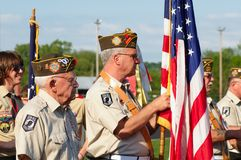 Color guard Royalty Free Stock Photo