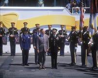 Color Guard at Desert Storm military parade, Washington, DC Stock Photography
