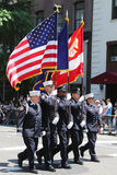 The Color Guard of the Fire Department of New York  during at LGBT Pride Parade in New York Stock Image