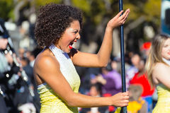 Color Guard / Flag Girl, Tournament of Roses parade Royalty Free Stock Image