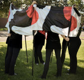 Color Guard Flag Girls Royalty Free Stock Image