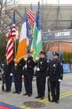 The Color Guard of the New York Police Department Stock Photography