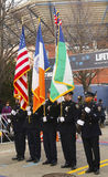 The Color Guard of the New York Police Department Royalty Free Stock Images