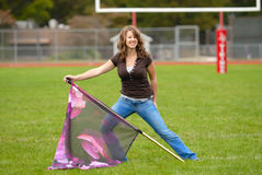Color Guard Practice Royalty Free Stock Image