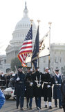 Color Guard at U.S. Capitol Royalty Free Stock Photo
