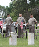 Color Guard Veterans in uniform Stock Images