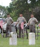 Color Guard Veterans in uniform Stock Images