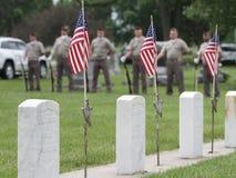 Color Guard Veterans in uniform Stock Image