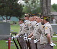 Color Guard Veterans in uniform in line Stock Photos