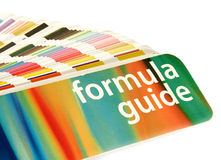 Color guide. Close-up stock photography