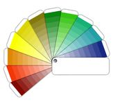 Color guide. With grading colors Royalty Free Illustration