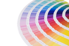 Color guide. A color formula guide on white royalty free stock images