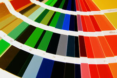 Color guide. Sampler beautiful rainbow of colors as closely Royalty Free Stock Photos