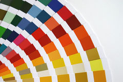 Color guide. Paints color sampler stock images