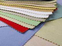 Color guide. To match leather for furniture decoraton or clothes royalty free stock photography