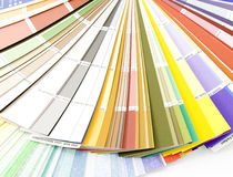 Color guide. The color guide spread out by a fan stock image