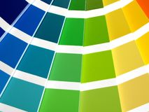 Color Guide. For selection with orange, yellow, green and blue tones stock images