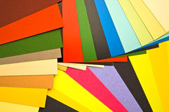 Color guide. Bright colorful sheets of paper royalty free stock photography