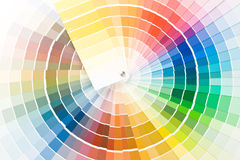 Color guide. Abstract background from color guide. Close up royalty free stock image