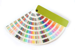 Color guide. Studio Photo Color guide royalty free stock images