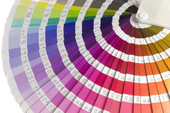 Color Guide. Part of a color guide for selecting colors stock images