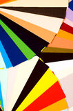 Color guide. Bright colorful sheets of paper stock photo