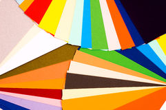 Color guide. Bright colorful sheets of paper royalty free stock photos